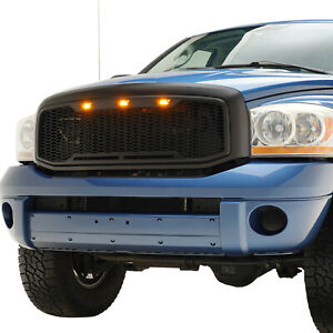 06 08 Dodge Ram 1500 06 09 Ram 2500 3500 Grille Raptor Style With Led Lights