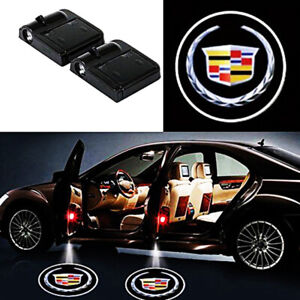 2 Pcs Wireless Car Door Led Welcome Laser Projector Logo Light Shadow Cadillac