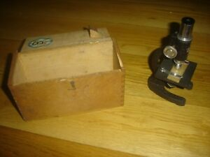 Vintage Seiko 150x Microscope W wooden Box Case