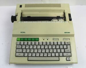 Royal Alpha 101 Portable Electronic Typewriter