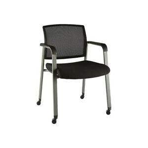 Staples Esler Mesh Guest Chair With Casters Black 51239 2707824