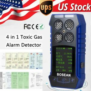 4 In 1 Gas Monitor Detector Co O2 H2s Oxygen Ex Gas Temperature Analyzer Meter