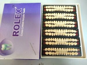 3 Boxes Denture Acrylic Full Set Teeth Upper Lower 28 Pieces 6 Set 1 Box