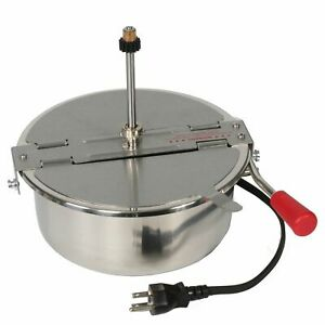 Replacement Popcorn Machine Kettle For Great Northern Poppers Stainless Steel