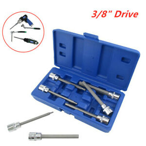 Ball End Long 4 3 Standard Sae Hex Allen Bits Sockets Wrench Tool Key 7pc 3 8