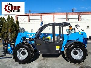 Unused New Genie Gth3007 Telescopic Forklift Diesel 4x4 6600lbs Cab Heat And Ac