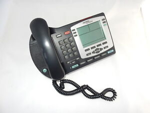 Business Desk Phone Nortel Ntdu92 Poe Ethernet Charcoal Silver Lcd Speaker