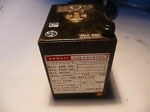 Abbott Transistor Military Power Supply W26d2 5 12912 105 125 Vac 400hz 5v 2 5