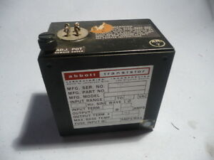 Abbott Transistor Military Power Supply 15de2 5 150001 105 125 Vac 400hz 5v 2 5