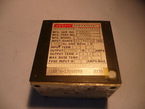 Abbott Transistor Military Power Supply W125dx0 2 725403 110 130v 400hz 2 Amp