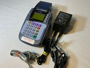 Verifone Omni 3200se Credit Card Reader Printer With Power Supply