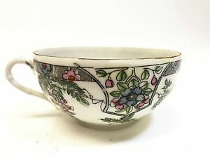 China Wide Mouth Tea Cup Hand Painted Floral Design Chinaware
