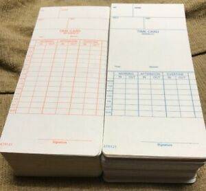 8 Pack Acroprint Time Card Atr121 Electronic Clock Weekly Or Biweekly 1000 T10