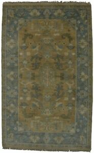 Hand Knotted Floral Oushak Chobi 3x5 Indian Area Rug Oriental Home D Cor Carpet