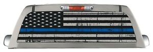 Police Blue Line Back Window Truck Decal Perforated Sticker Rear Window Wrap