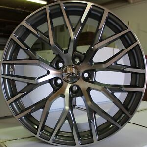 22 Inch Rims Audi S Line R8 Style Q3 Qs3 Q5 Sq5 Q7 Sq7 Mesh Machined Wheels