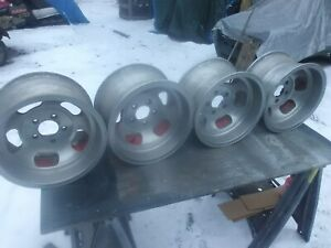 4 15x8 5 Vintage Slot Mag Rims Wheels Ansen Sprint Shelby Cal 500 5x4 75