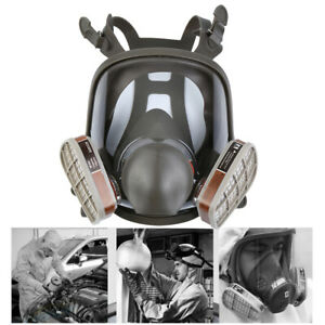 15 In1 Facepiece Spray Paint Chemical Industrial Fire Fighting Military Gas Mask