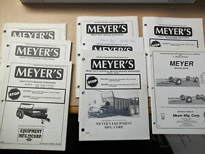 Meyer s Manure Spreader Parts Manuals 1 Running Gear Manual Lot Of 8