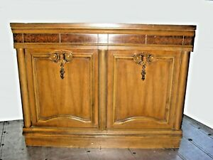 Vintage Mid Century Modern Entry Table Server Sideboard Buffet Dry Bar