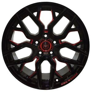 4 Gwg Nigma 18 Inch Black Red Mill Rims Fits Buick Park Avenue 2000 2005
