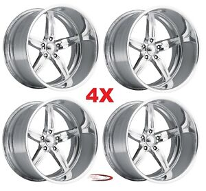 24 Pro Wheels Rims Spitfire 5 Intro Foose Mags Forged Billet Line Aluminum Us
