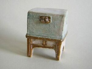 Antique Chinese Pottery Money Chest On Cabinet 4961
