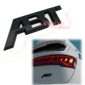 Glossy Black Abt Emblem Sticker For Audi A1 A3 A4 A5 A6 A8 Tt Q3 Q5 Q7