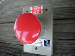 Rockford Safety Equipment Emergency Stop Palm Switch Cat No 117 1705