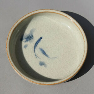 Exquisite Chinese Old Porcelain Blue White Double Fish Brush Washer