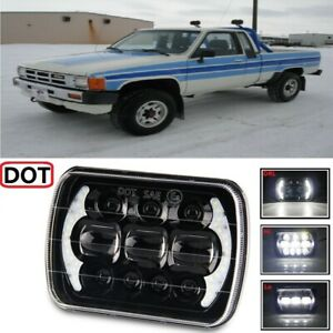 Dot 7x6 Led Headlight Sealed Hi lo Beam Halo Drl For 1986 Toyota Pickup Sr5