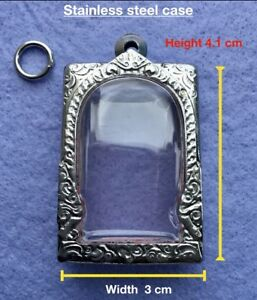 3 Pcs Nice Stainless Case For Thai Amulets Phra Somdej Pendant No 8