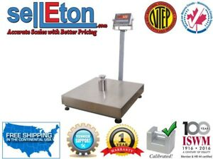Bench Scales 300 Lbs X 0 05 Lb Industrial Shipping Removable Platter Rs 232 Port