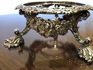 C1810s Joseph Angell I Antique Important Sterling Silver Teapot Stand Warmer