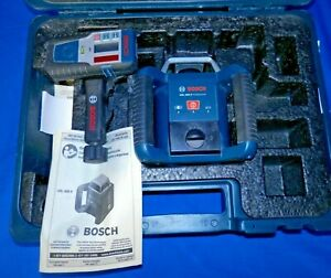 Bosch Grl400h Self leveling Rotary Laser With Laser Receiver Used Free Shipping