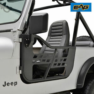 Safari Tubular Door With Side Mirror Pair Fit For 1981 1996 Jeep Cj7 Yj Wrangler