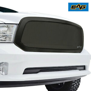 Eag Fits 2013 2018 Dodge Ram 1500 Grille Black Stainless Steel Mesh Replacement