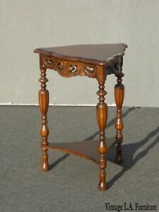 Antique Victorian Triangle Corner Table Side Table