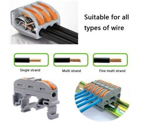 100pcs Mini Fast Wire Connectors Universal Cable Wire Connector Push in Terminal
