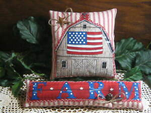 Patriotic Old Barn Farm Bowl Fillers Wreath Making Country Kitchen Home Decor