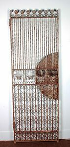 Antique 8ft Wrought Iron Gate