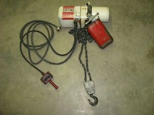 Duff Norton Coffing 2 Ton Lift Electric Chain Lifting Hoist 230 460 Volt 3 Phase