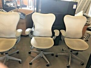 Chair W Casters By Herman Miller Mirra In Gray Color 2004 as is