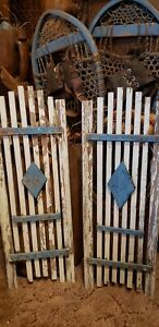 Antique Blue And White Shutters Pair