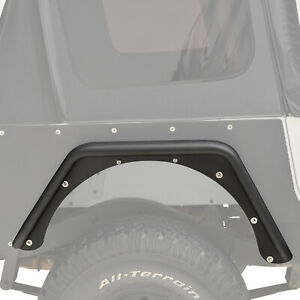 Fits 87 96 Jeep Yj Wrangler Rear Fender Flares Armor 3 Black Textured