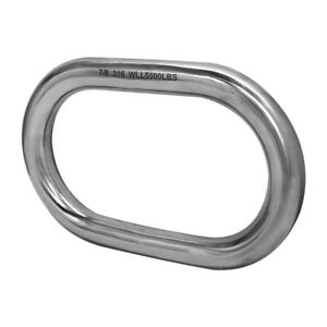 7 8 316 Stainless Steel Marine Master Link Welded Formed Boat Wll 5 500 Lbs