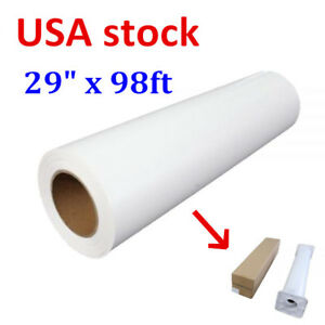 29 X 98 White Roll Eco solvent Printable Heat Transfer Vinyl Dark T shirt