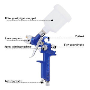 Hvlp Mini Spray Paint Gun Auto Car Detail Touch Up Sprayer 1 0mm Nozzle And Cup