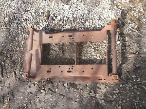 Antique Small Hit Miss Engine Iron Skid Nice
