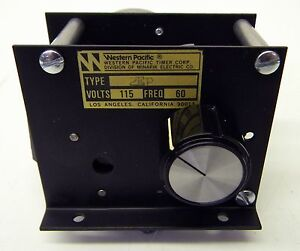 Minarik Western Pacific Mechanical Electric Timer 2 Pole Surface Mount